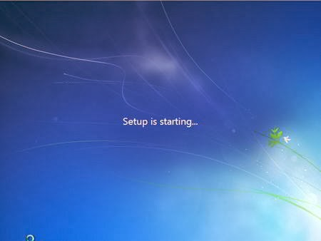 Cara Instal Windows 7 - Setup is starting