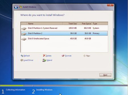 Cara Instal Windows 7 - Partisi Hardisk 5