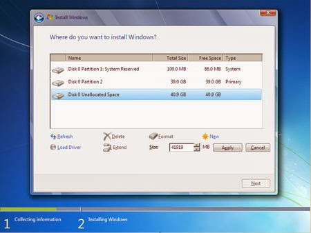 Cara Instal Windows 7 - Partisi Hardisk 7