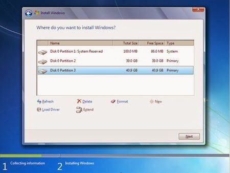 Cara Instal Windows 7 - Partisi Hardisk 8
